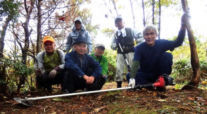 弟見山(1085m)へ草刈り登山